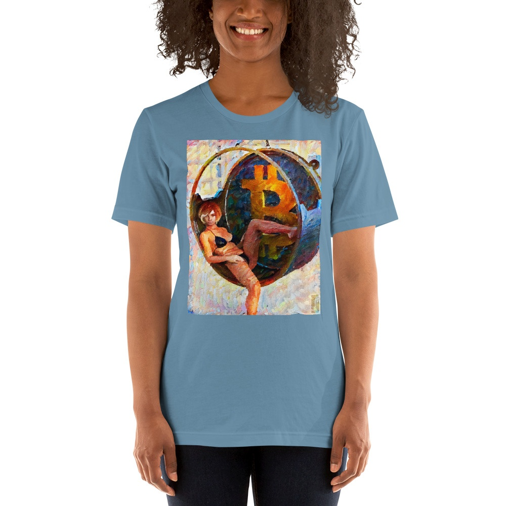 Bitcoin Girl 2 by @federacion45 Short-Sleeve Unisex T-Shirt