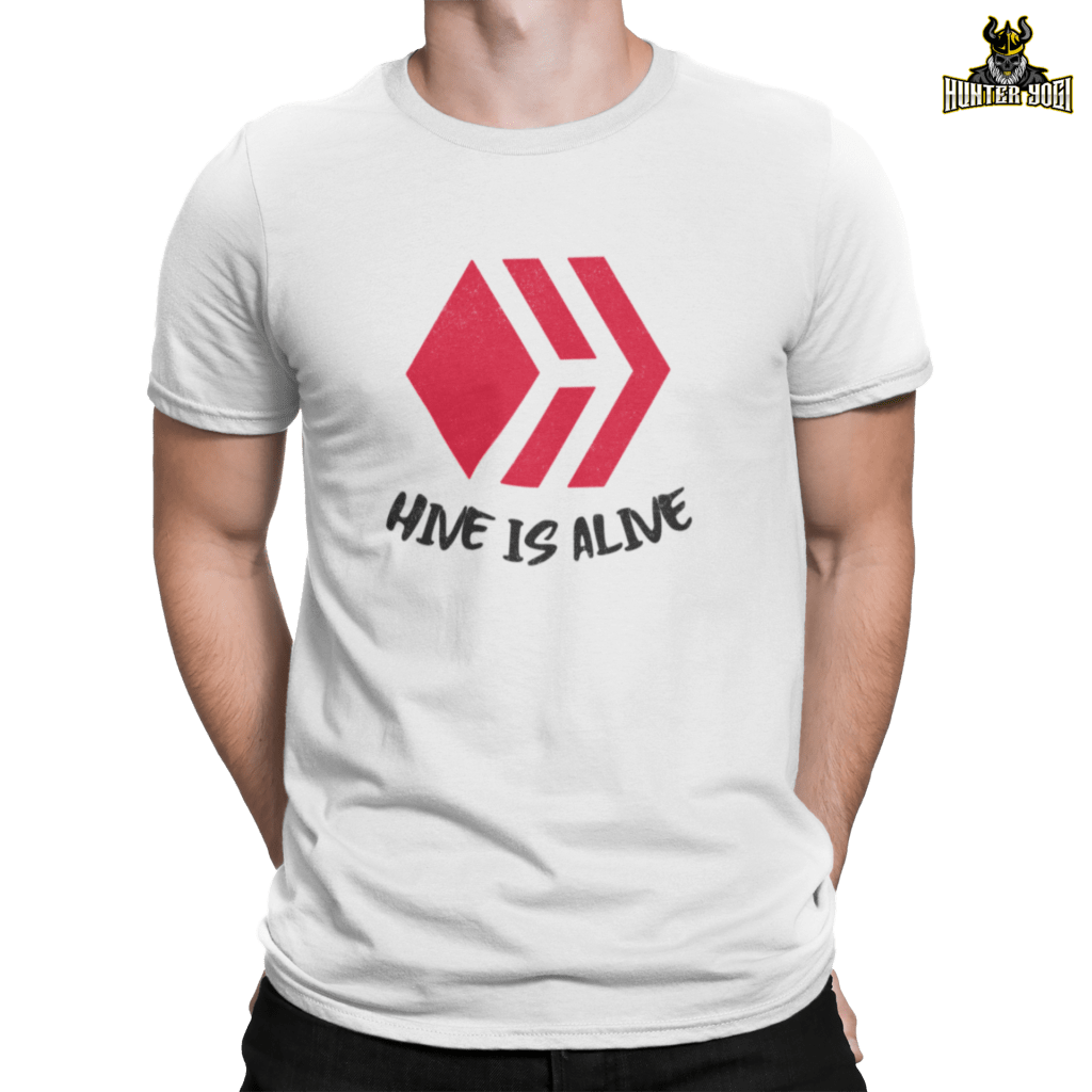 #HiveIsAlive | Half Sleeves White Color T-shirt
