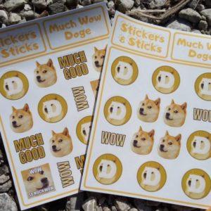 dogecoin sticker doge