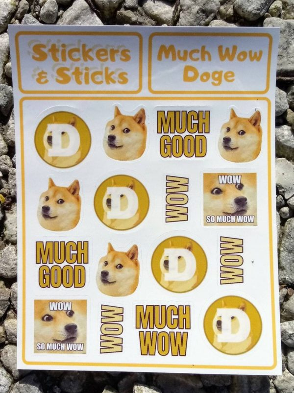 dogecoin sticker doge