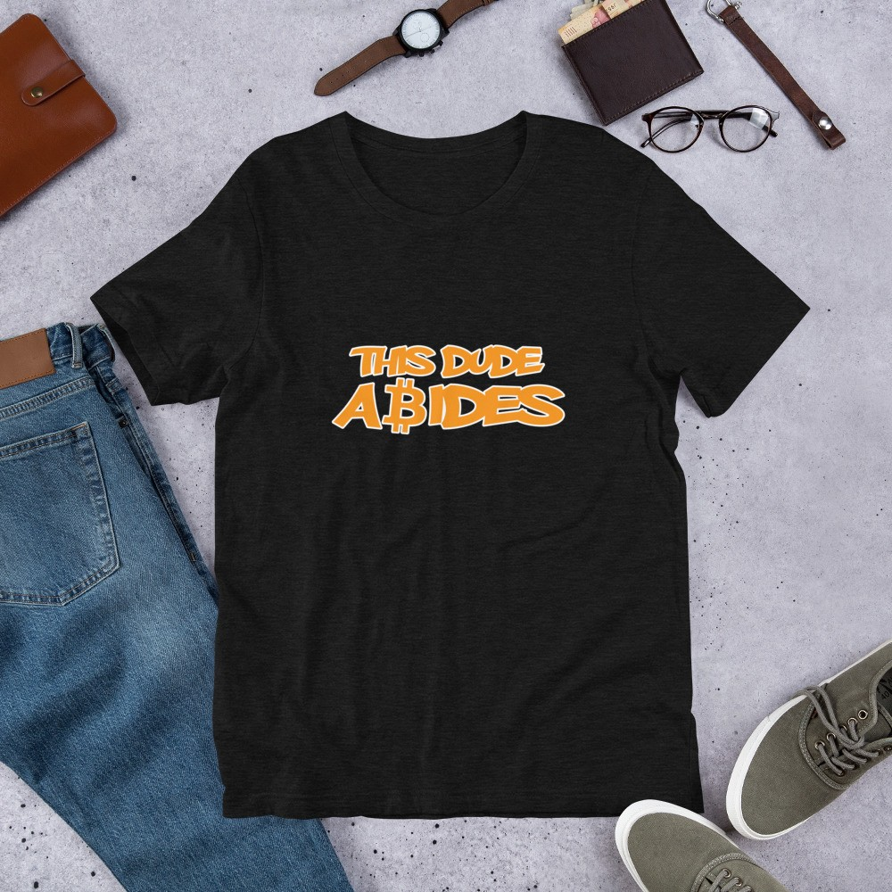 This Dude Abides With Bitcoin Short-Sleeve Unisex T-Shirt